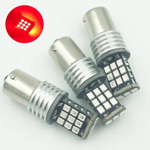 10шт 1156 Canbus 2835 21-SMD BA15S 1141 1073 1095 7506 светодиодные лампы для автомобиля сигнал поворота хвоста тормозной стоп-сигнал, красный