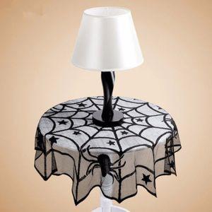 Halloween Partys de toile d'araignée en dentelle Nappe Bar intérieur Décor Table couverture noire