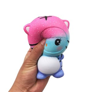 Kawaii Cute Little Tiger Squishy Slow Rising Soft Squeeze Fun Decompression Kids Toys Phone Straps Children's Toy Gifts L1223