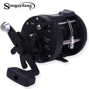 Sougayilang Salzwasser Angelrollen TSSD 3000L-4000L Trolling Drum Angelrolle Salzwasser Right Hand Schwarzes Meer Fisch Reel T191015