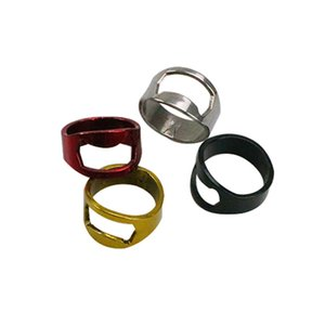 New 22mm Stainless Steel Red Wine Can Jar Openers Multi-function Colorful Ring Shape Beer Bottle Opener Ring Kitchen Accessories