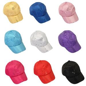Kinder Tänzer Leistung Pailletten Kappe Erwachsene Kinder Stage Party Funkelnde Baseballmütze Mode Reise Glitter Glänzende Hüte