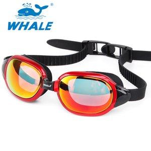 Whale Men Women Professional Adults Waterproof Anti-Fog Lens Swim Goggles Breaking UV silicone swimming glasses Eyewear in pool