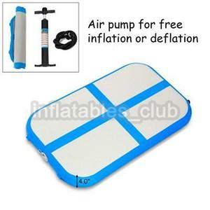Ücretsiz Kargo Şişme Hava Kurulu / Hava Bloğu Için Gym Mini Boyutu Airtrack Insan Için 1 * 0.6 * 0.1 m Hava Parça Paspaslar / Hava Kat Promosyon