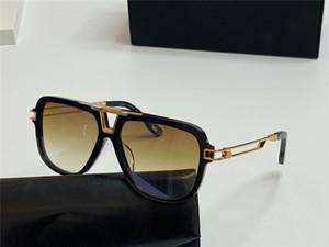 Top Männer Brille THE MC I Design Full-Frame-Metall hohle Schläfen High-End hochwertige Outdoor-uv400 Glas-Sonnenbrille