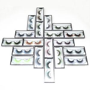 Envío libre rápido de color en 3D de imitación de visón pestañas Particular logo Aceptable coloridas 3D seda pestañas dramáticas pestañas postizas