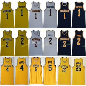 2019 Мичиган росомахи Баскетбол 1 Чарльз Мэтьюз 2 Jorda Poole Джерси Мужчины 5 Jalen Rose 4 Chris Webber 25 Джуван Ховард 41 Глен Райс