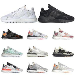 2020 Nite jogger 3m hommes réfléchissantes femmes chaussures de course de sport triple formateurs des hommes de qualité supérieure noir blanc vert de Taille 36-45