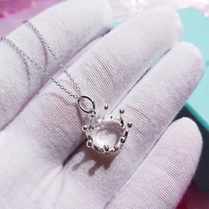 Конструктор мини Корона ожерелье Luxury Link Chain Литтл Gold Bean Jewelry ожерелье Never Fade Young размолвка роскошь
