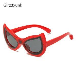 Gato retro Glitztxunk New Kids óculos polarizados Eye Crianças Sun Óculos para meninos das meninas Moda Sombra Goggle Eyewares UV400