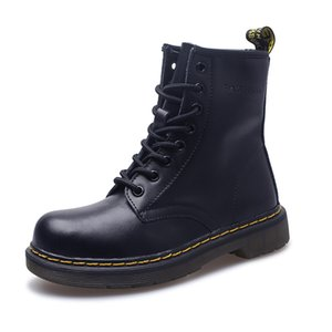 Ankle Boots For Women Top Quality Dr Genuine Leather Women Martin Botas High Top Motorcycle Autumn Winter Lover Snow Shoes