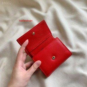 2020 Classic Short Leather Zipper Ladies Small Wallet Simple Change Leather Mini Women Clutch Bag Factory Direct Sales Size 10x8.5x2.5cm