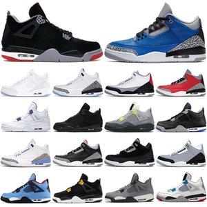 nike air jordan retro 3 3s Chaussures de basket-ball pour hommes 4s Bred 4 Court Purple Black Cat Varsity Royal Fire Red UNC Tinker hommes formateur baskets de sport athlétique