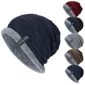 Hombres de punto caliente Fleece Cap invierno Baggy Beanie Gorro de lana Nieve casquillos elásticos