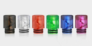 2019 hotest vape plastic spiral drip tip 810 wide bore smok mouth piece for vape anti spit back drip tip best cheap online