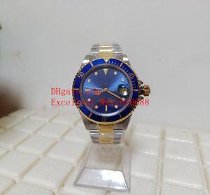 Hot venda de relógios BP Vintage 40 mm 16613 Two Tone ouro antigo liga Bezel Dial Azul Ásia 2813 movimento automático dos homens Relógios do relógio