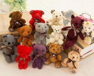 Чучело плюшевого мишки плюшевые игрушки девушка baby shower party favor мультфильм животных ключ сумка подвески 12 см рождественские подарки