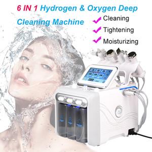 6 1 Hydrafacial Dermabrazyon Makinesi Su Oksijen Jet Peel Hydra Cilt Scrubber içinde Yüz Güzellik Derin Temizleyici RF Yüz Soğuk Hammer Kaldırma