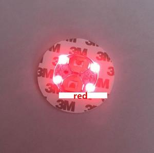 اللوازم LED الوهج كوستر زجاجة ضوء ملصقات مهرجان بار حزب زهرية الديكور LED المعظم شرب كأس حصيرة حزب 100pcs التي IIA157