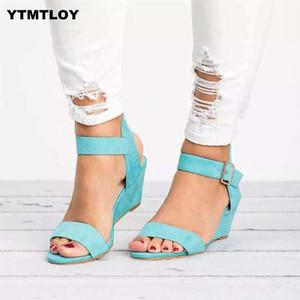 Women Sandals Plus Size 35-43 Wedges Shoes For High Heels Summer 2020 Flip Flop Chaussures Femme Platform Yellow Sandals