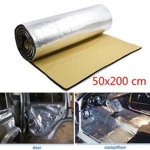 Fibra di alluminio Auto Car Firewall scudo termico Isolamento acustico deadener Mat + silenziatore Cotton Mat antipolvere impermeabile 50 * 200cm