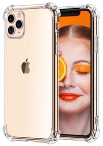 iPhone için Crystal Clear İnce Şok Emme Yumuşak TPU kılıflar 11 pro Xs Max Xr 6 7 8 artı galaksi S10 E S8 S9 Artı A70 M20