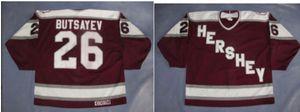 Personalizzato Uomini Giovani Donne DELL'annata AHL Hershey Orso personalizzato Hershey Orso 26 Butsayev Jersey Hockey Jersey Taglia S-5XL o personalizzato qualsiasi nome o numero