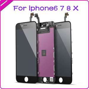 Best Price Foxconn Screen for Iphone 5G 6G 6S 6P 6SP 7G 7P 8G 8G LCD Display Touch Screen Replacement,White,Black