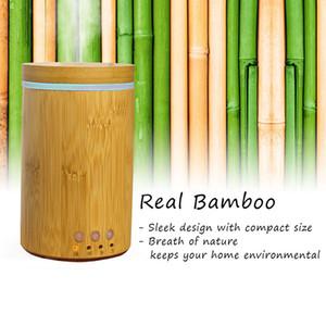 tranquilamente 150ml Bamboo sono Pele respiração Nature ambiental Aroma Difusor Waterless Auto off Quente Umidificador Névoa BPA livre Sussurro