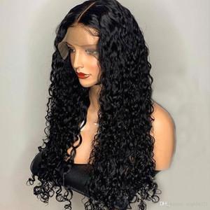 Brasileño Remy Curly 360 Full Lace Frontal Parte profunda Pelucas de cabello humano para mujeres negras Nudos preacabados y blanqueados Peluca de cierre