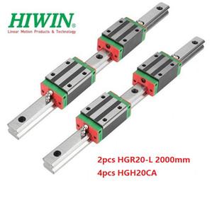 2 pz Originale Nuovo HIWIN HGR20 - 2000mm guida lineare / guida + 4 pz HGH20CA lineare blocchi stretti per parti del router di cnc