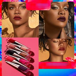 Rihanna makyaj ruj 13 Renk Sıvı Ruj UNCENSORED dudak parlatıcısı taban Mat Lipgloss Dudak sopa Red Velvet Kozmetik Dudak güzellik