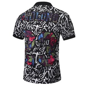 Polos Hommes Paisley Fleurs Shirt Print Skulls Hauts Hommes Polos Été Mode Designer Polos Hommes Beaux