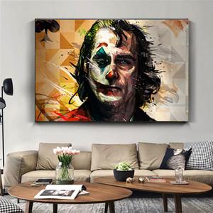 Salon Ev Dekorasyonu için Duvar Resimleri Boyama Baskılar Joke Wall Art Canvas Oil Boyama Joker Tuval