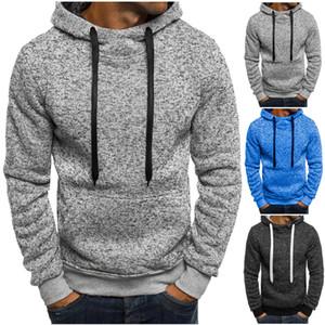 Мужчины Повседневная толстовки Толстовка Плюс Размер Solid Color хлопок Пуловер Зимняя теплая одежда Factory Outlet высокого качества