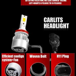 NEW 도착 C6 자동차 조명 전구 36W LED H11 LED H8 H9 880 9005 개 COB 자동 헤드 라이트 12V Led 빛 범용