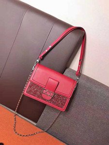 Bag Fashion Small Bread Simple Pure Color Character One Shoulder Oblique Cross Diamond Package Genuine Leather Handbags High Quality Female
