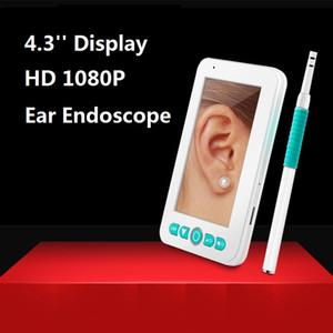 4.3 '' Display USB Endoscópio de Limpeza da Orelha HD Visual Ear Ear Colher Multifuncional Earpick Com Mini Câmera Orelha Ferramenta de Limpeza de Cuidados de Saúde