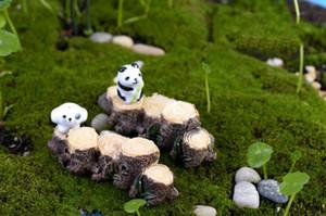 10pcs mini arbre souche pont modèle résine jardin miniatures bricolage Dollhouse / Terrarium / succulentes / Micro paysage décoration