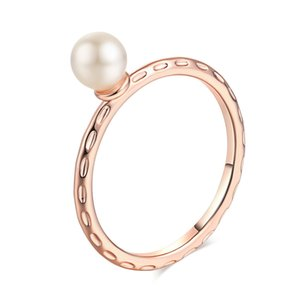Imitation Pearl Rings For Women Fashion Jewelry Wedding Engagement Bride Party Cocktail Classic Gifts R424