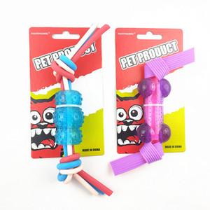 diy woven dog tpr molar pet chew noodle bone toys 2020 new hot