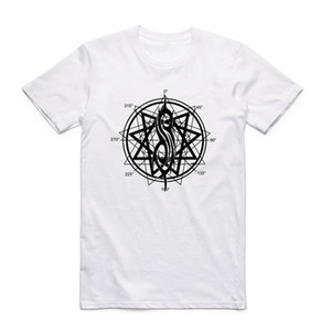 2019 camiseta tamaño grande 100% algodón manga corta camiseta con cuello en O bicicleta Punk Rock Slipknot