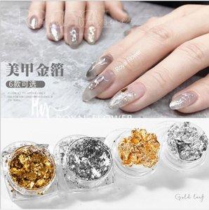 2020HOT! High Grade Foil Nail Flake Ultra-thin Gold Silver Foil Sequins Aurora Platinum Metal Powder Nail art flake Art DIY