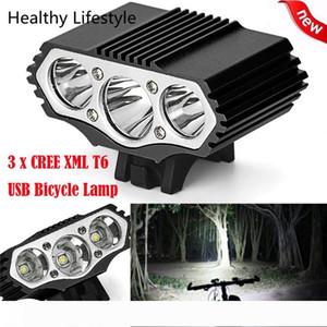 12000 Lm 3 x XML T6 bicicleta Lâmpada LED 3 Modos de bicicleta Bike Light Farol de bicicleta Torch Outdoor Bicicleta Luz Acessórios WS40