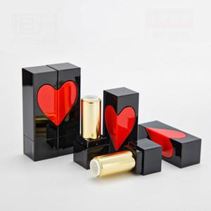 Tubo per rossetto vuoto da 100 pezzi cuore quadrato, astuccio per labbra 12.1