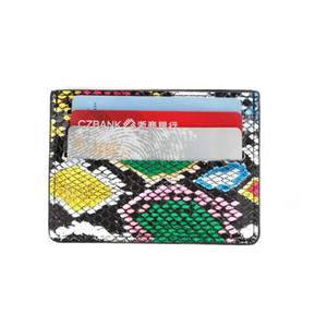 New Women Snake Skin Pattern Card Sets PU Leather Short Card Holder Fashion Purse With Coin Pocket Money Card Bags
