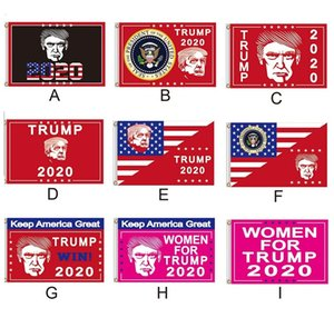 New 90*150cm Trump 2020 Flag Donald Trump Keep America Great Banner New Designer Flags for Festive Home Garden Decoration Banner Flags 6049