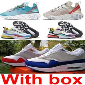 Epik Eleman 87 Atmos 87 Yıldönümü 1 Piet Parra 87 Prim 1 DELUXE KARPUZ Beyaz Mavi Koşu ayakkabıları Kutusu ile sneaker Tepki
