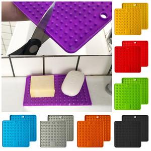 Cuore Square Shap Isolamento Tappetini in silicone Cuscinetti di drenaggio a due lati di grandi dimensioni Sottobicchiere FIT Home Table Decoration Multifunzione 6jm E1