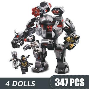 347PCS الصغيرة بناء كتل لعب متوافق مع أبطال Legoe آلة الحرب المغفل الرجل الحديدي الأعجوبة المنتقمون سوبر هدية للالفتيان والفتيات والأطفال